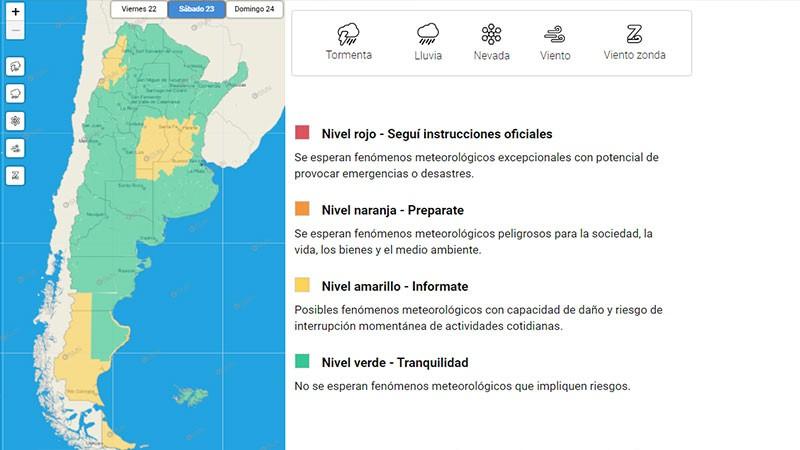 Emitieron alerta por tormenta y caída de granizo para una zona de Entre Ríos