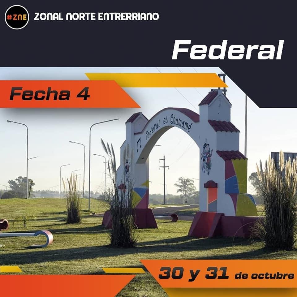 ZONAL NORTE ENTRERRIANO EN FEDERAL, PONE LA CUARTA