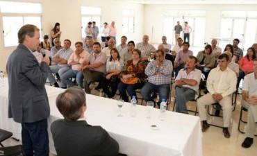 Bordet y Urribarri se reunieron con intendentes electos del PJ