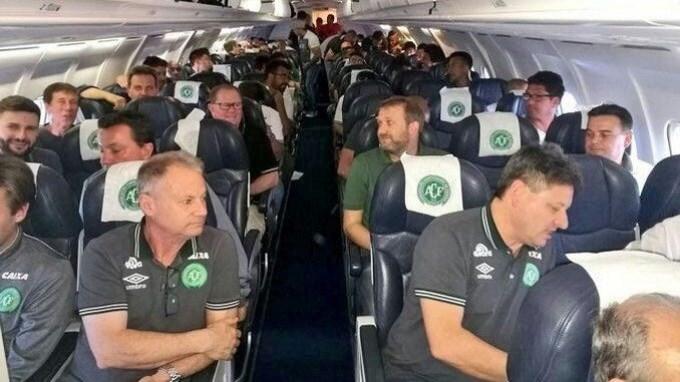 Se estrelló el avión del Chapecoense en Colombia