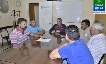 El Intendente se reunió con miembros del sindicato de empleados municipales