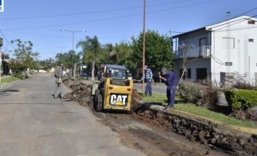Bacheo y reconstrucción en Bulevar Urquiza
