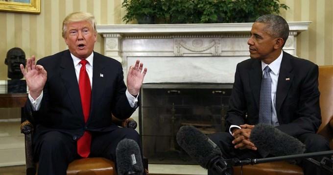 Obama y Trump, juntos por primera vez en la Casa Blanca