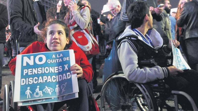 Sin derecho a recortar las pensiones por discapacidad