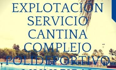 CONCESIÓN DEL SERVICIO DE CANTINA EN EL COMPLEJO POLIDEPORTIVO
