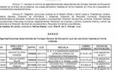 Tras detectar casos de maestros que cobraron hasta 188.000 pesos demás por haberes mal liquidados, el CGE descontará montos pagados por error