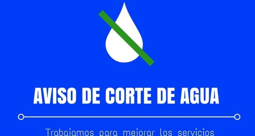 EL MUNICIPIO RECUERDA A LOS VECINOS SOBRE LA INTERRUPCIÓN EN EL SERVICIO DE AGUA CORRIENTE