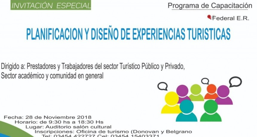 """MAÑANA SE REALIZA EL SEMINARIO DENOMINADO """"PLANIFICACIÓN Y DISEÑO DE EXPERIENCIAS TURÍSITICAS"""""""