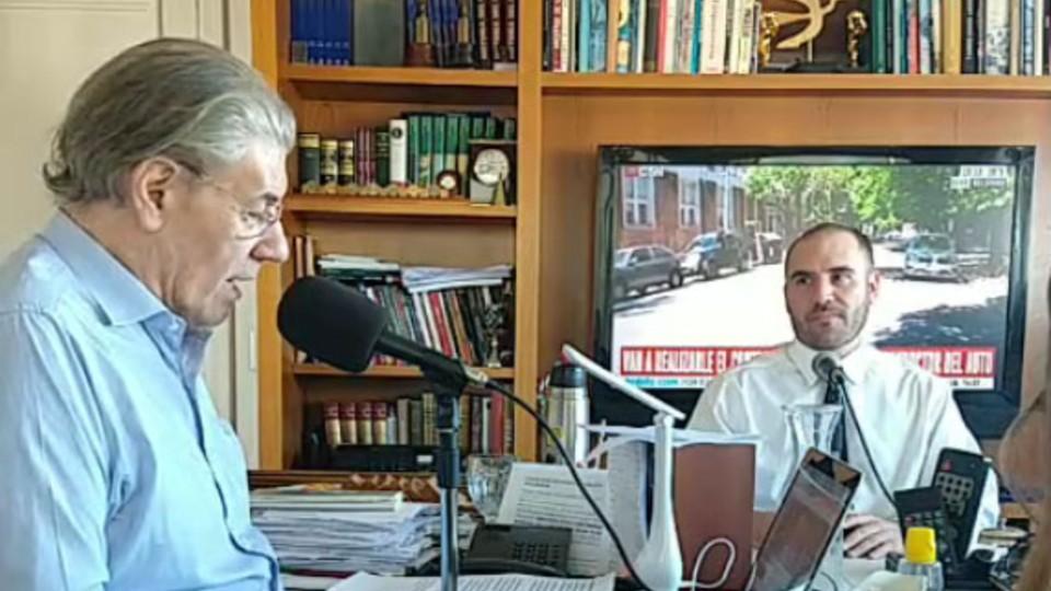 Entrevista mano a mano entre Martín Guzmán y Víctor Hugo Morales: