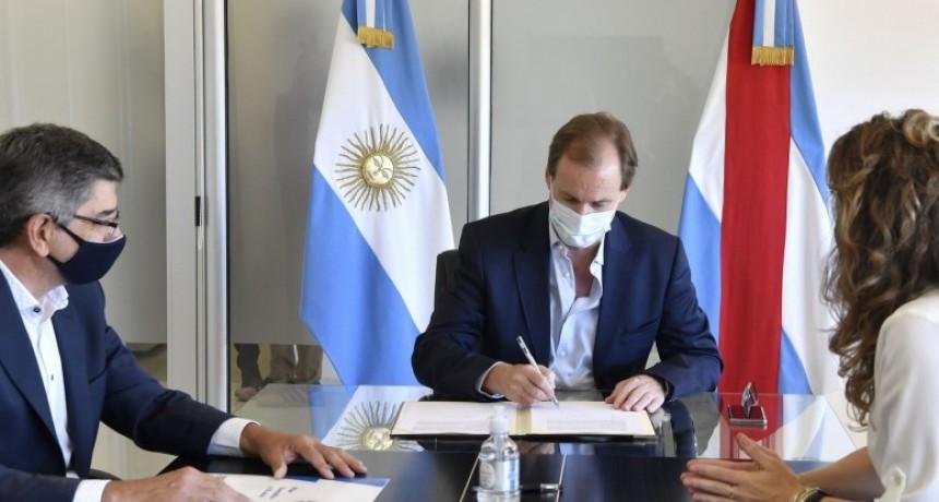 Se firmó el convenio para la línea de media tensión Los Conquistadores-Feliciano