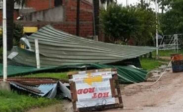 El viento causó destrozos en San José