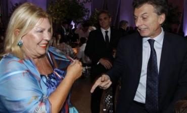 Macri se mostró junto a Carrió y Sanz