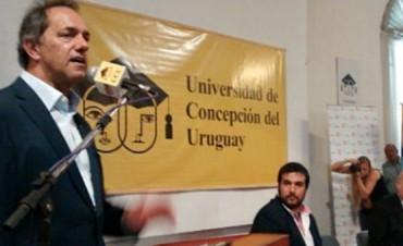 """Scioli: """"No hablaré mal de Urribarri"""""""