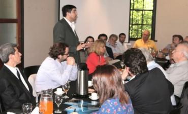 Fuertes y Marco Lavagna se entrevistaron con la cúpula de la Unión Industrial de Entre Ríos