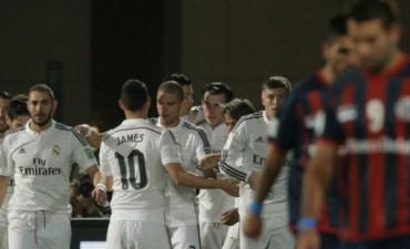 San Lorenzo hizo un digno papel ante el Real Madrid, que le alcanzó con su jerarquía para gritar campeón