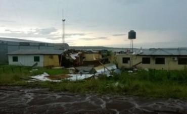 Vientos huracanados provocaron destrozos en Misiones