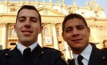 Brian Torres y Lorenzo Antonio Castaño, dos policias entrerrianos visitaron a Francisco