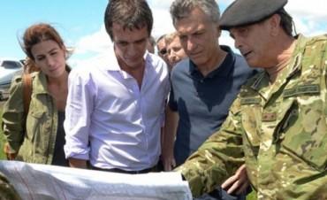 El Presidente Mauricio Macri recorrió las zonas inundadas de Concordia y comprometió fondos para viviendas
