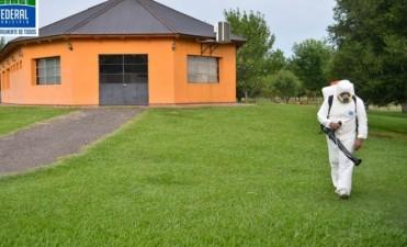 El Municipio realiza tareas de fumigación preventiva en la zona del Camping Municipal