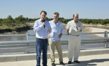 Bordet y Macri inauguraron el puente más largo de Entre Ríos sobre el río Gualeguay