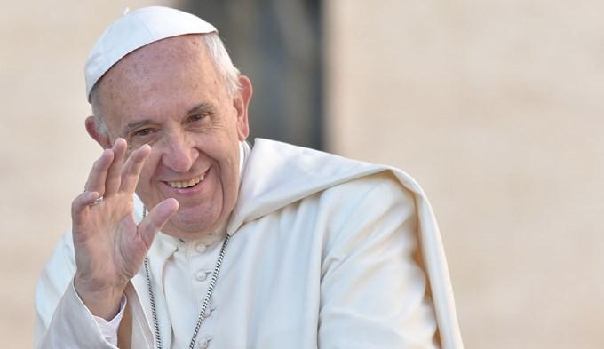 La broma del Papa a quienes le cantaron el