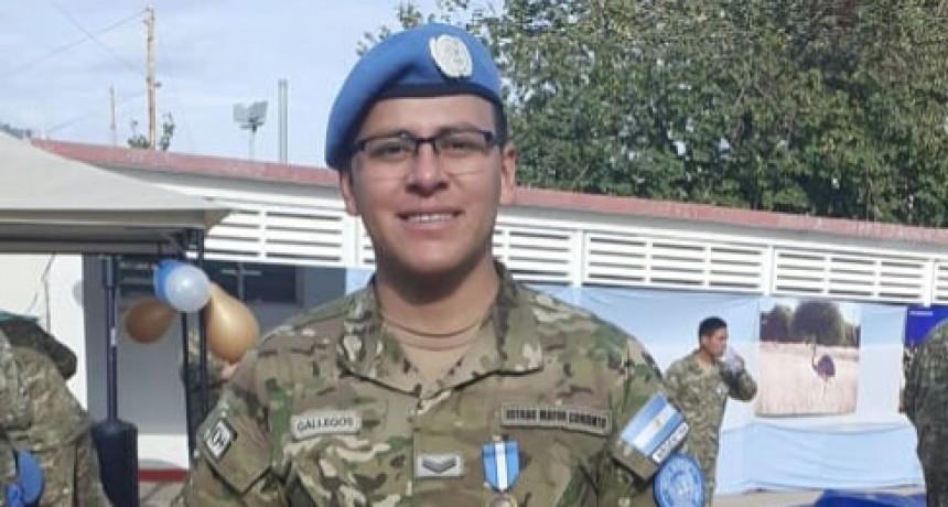 EL FEDERALENSE, CABO 1° GUSTAVO DANIEL GALLEGOS, CONDECORADO EN CHIPRE